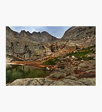 Peacock Lake in Rocky Mountain National Park, Colorado. Photographic Print