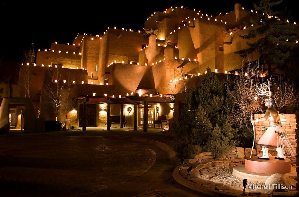 La Fonda Hotel at Christmas  by Mitchell Tillison