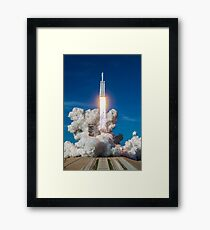 Spacex Falcon Heavy Lift Off Demo Launch Framed Print