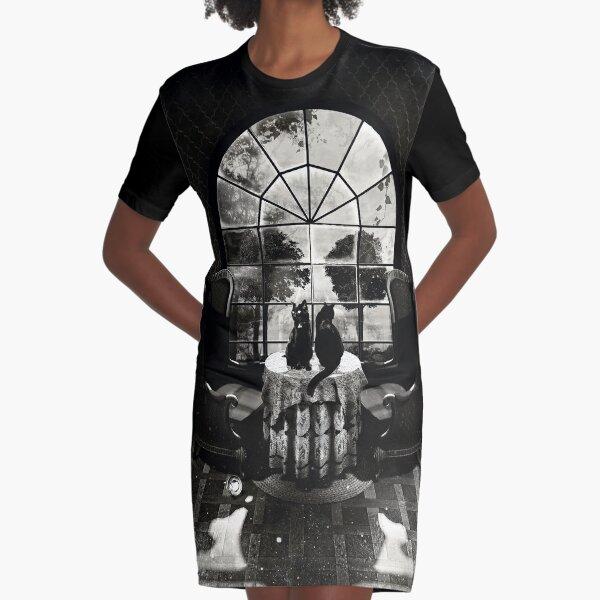 Room Skull Graphic T-Shirt Dress