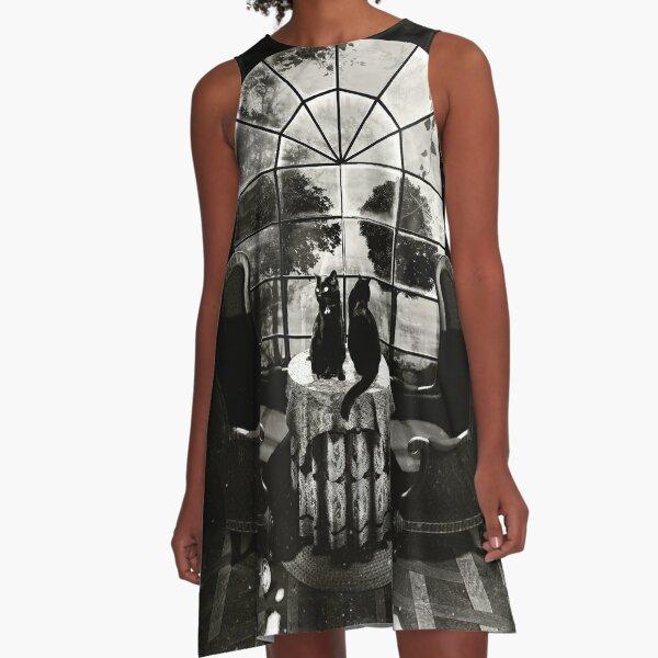 Room Skull A-Line Dress