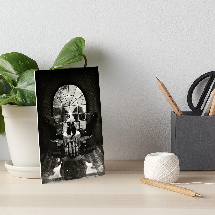 Room Skull Art Board Print