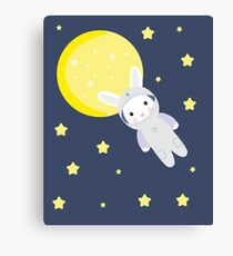 Bunny in space Canvas Print