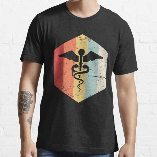 Retro Cadeuces | RN Registered Nurse Nursing Gift Essential T-Shirt