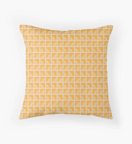 Daisies in Yellow Squares Retro Pattern Throw Pillow