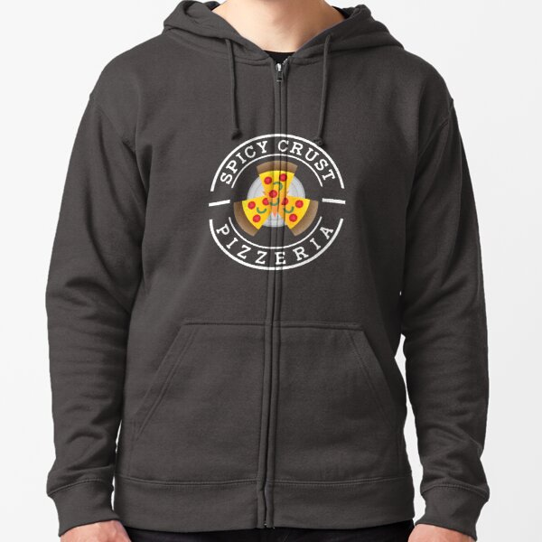 Spicy Crust Pizzeria (SCP front) Zipped Hoodie