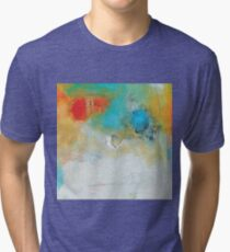 Abstract Blue Orange Art Print Tri-blend T-Shirt