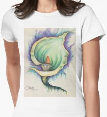 Handrawn orchid Women's Fitted T-Shirt