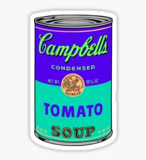 Andy Warhol Campbells soup can print sticker Sticker