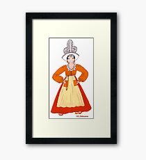 Pays de Loire Traditional Costume, Sands Framed Print