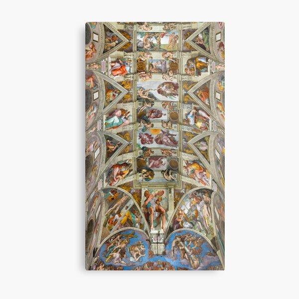 Michelangelo - The Sistine Chapel  Metal Print