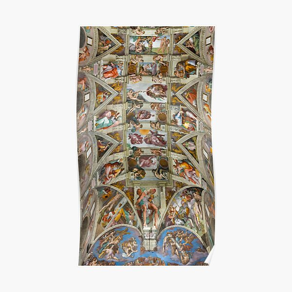 Michelangelo - The Sistine Chapel  Poster