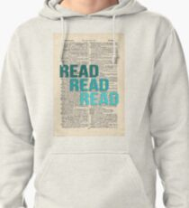 Vintage Dictionary Page - Read Read Read Pullover Hoodie