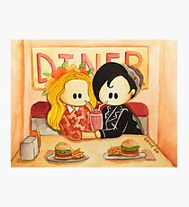 Bughead Flower Crown and Serpent Jacket in Pops Photographic Print