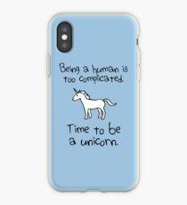 Zeit ein Einhorn zu sein iPhone-Hülle & Cover
