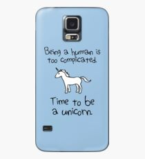 Funda/vinilo para Samsung Galaxy Tiempo para ser un unicornio