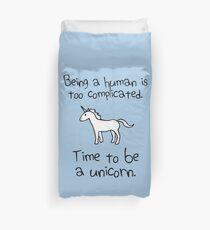 Time To Be A Unicorn Duvet Cover