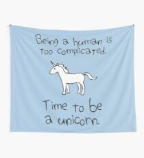 Time To Be A Unicorn Wall Tapestry