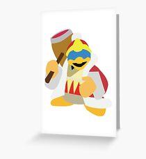 King Dedede Greeting Card