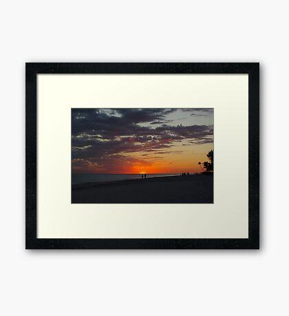 January Sunset Framed Print
