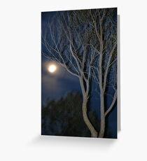 Quilpie Moon © Vicki Ferrari Greeting Card