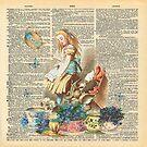 «Vintage Alicia en el país de las maravillas en una página de diccionario» de maryedenoa