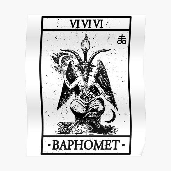 BAPHOMET TAROT CARD - BAPHOMET, SATANISM AND THE OCCULT Poster