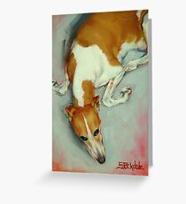 Chloe The Whippet Greeting Card