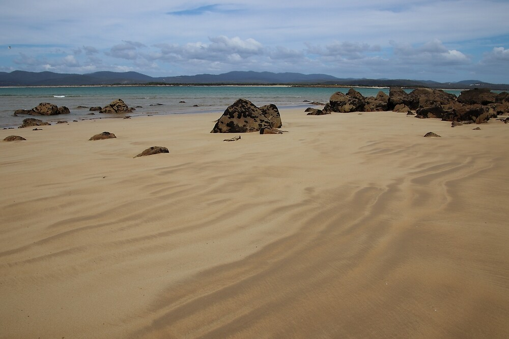 beautiful sand lines at Hawley Beach by Gaylene Norton