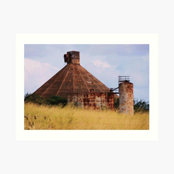 Grove Farm Sugar Mill Art Print
