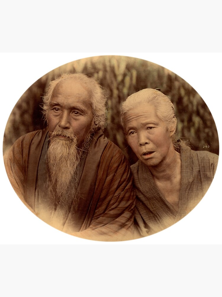 Elderly Japanese couple, 1890s by Fletchsan