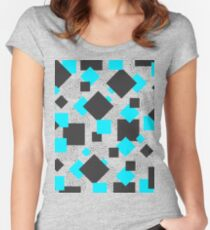 Square Blues Shapes Women's Fitted Scoop T-Shirt