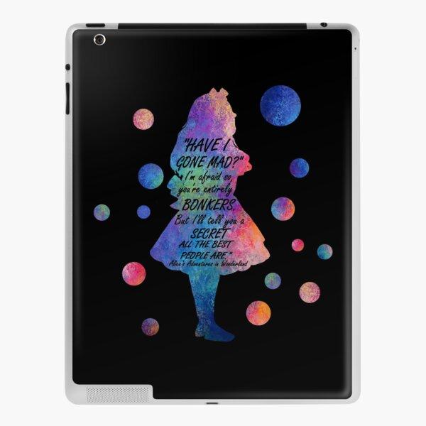 Colorful Alice In Wonderland Bonkers Quote iPad Skin