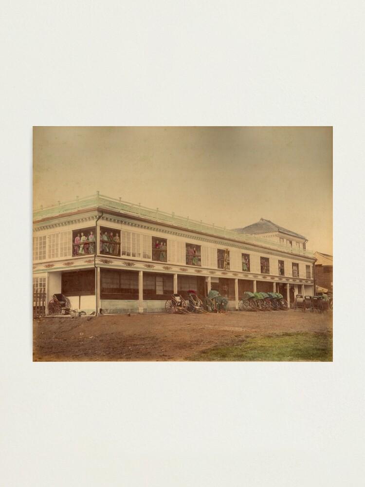 Alternate view of Jinpuro Brothel, Yokohama, Japan, 1890s Photographic Print