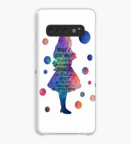 Colorido Alice In Wonderland Bonkers Cita Funda/vinilo para Samsung Galaxy