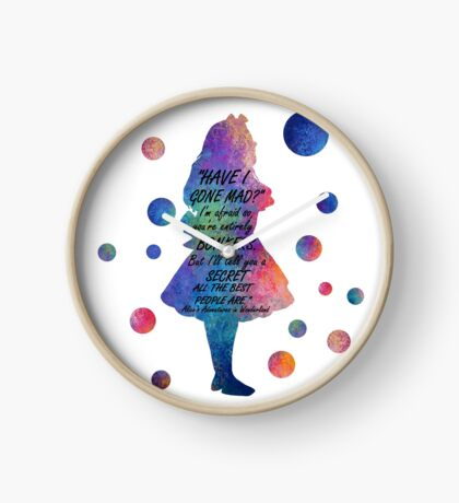 Colorido Alice In Wonderland Bonkers Cita Reloj