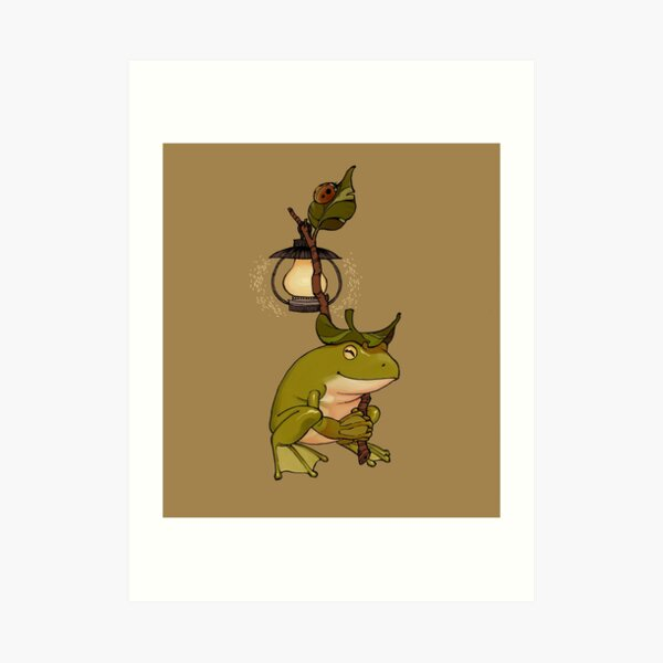 Journey Frog Art Print