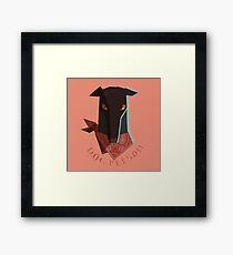 dog person Framed Print