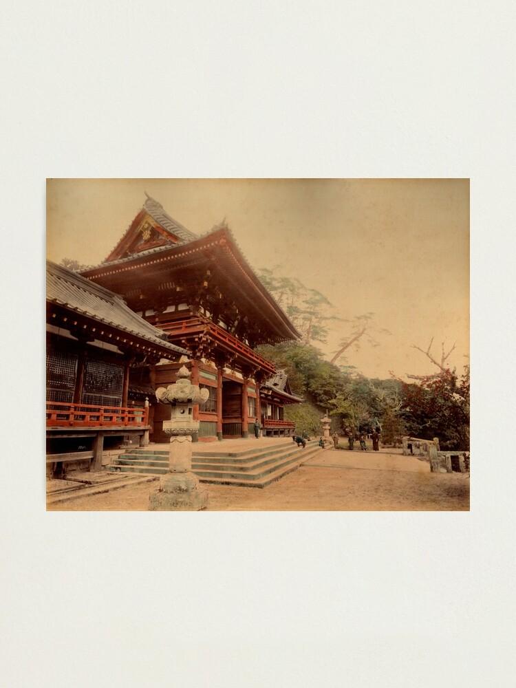 Alternate view of Temple at Kamakura, Japan Photographic Print