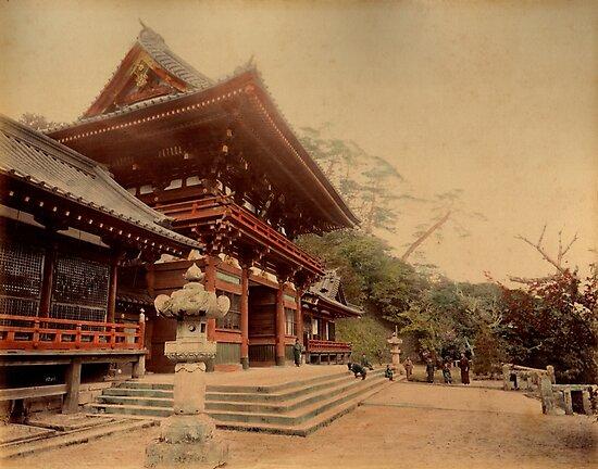 Temple at Kamakura, Japan by Fletchsan