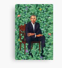 Obama Portrait Hawaiian Lettuce Parody Canvas Print