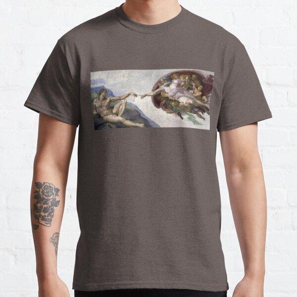 La creación de Adán - Miguel Ángel Camiseta clásica