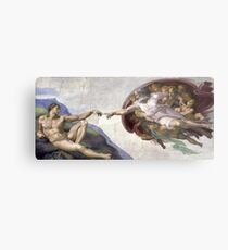 The Creation of Adam - Michelangelo  Metal Print