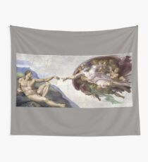 The Creation of Adam - Michelangelo  Wall Tapestry