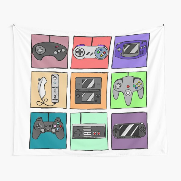 Game Controllers - Nintendo and Sony Tapestry