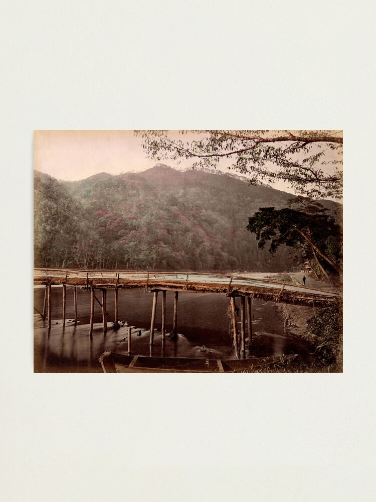 Alternate view of Togetsu bridge, Kyoto, Japan Photographic Print