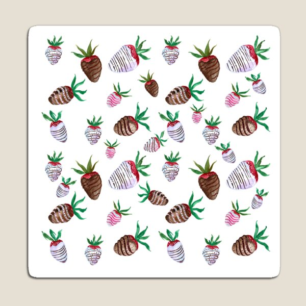 Yummy Chocolate Covered Strawberries Magnet