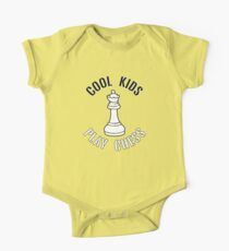 Cool Kids Play Chess Queen Piece - Cool Chess Club Gift One Piece - Short Sleeve