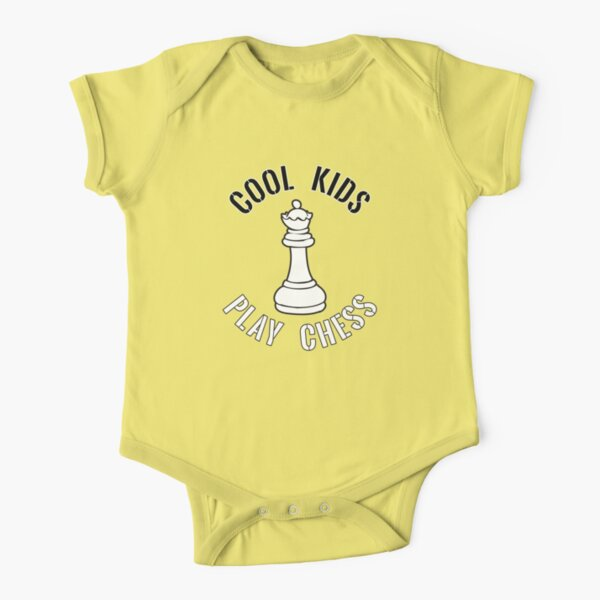 Cool Kids Play Chess Queen Piece - Cool Chess Club Gift Baby Body Kurzarm