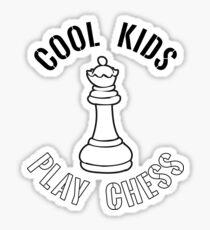 Cool Kids Play Chess Queen Piece - Cool Chess Club Gift Glänzender Sticker